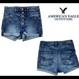 American Eagle outfitters stonewashed denim shorts